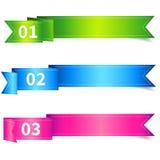 Sistema de la etiqueta de la cinta con número Fotografía de archivo