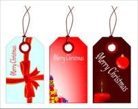 Sistema de la etiqueta de la Navidad Imagen de archivo