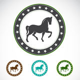 Sistema de la etiqueta del caballo Fotografía de archivo libre de regalías