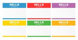 Sistema de la etiqueta del nombre Etiqueta de la introducción del Nametag stock de ilustración