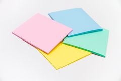 Sistema de la etiqueta engomada coloreada Fotos de archivo libres de regalías