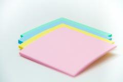 Sistema de la etiqueta engomada coloreada Imágenes de archivo libres de regalías