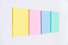 Sistema de la etiqueta engomada coloreada Foto de archivo
