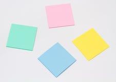 Sistema de la etiqueta engomada coloreada Fotografía de archivo libre de regalías