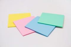 Sistema de la etiqueta engomada coloreada Imagen de archivo