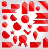 Sistema de la etiqueta engomada de la insignia Imagen de archivo libre de regalías