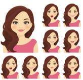 Sistema de la expresión de la mujer Foto de archivo
