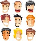 Sistema de la expresión de los hombres Imagen de archivo libre de regalías