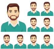 Sistema de la expresión del hombre de la barba