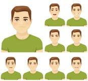 Sistema de la expresión del hombre joven