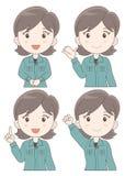 Sistema de la expresión de la mujer del personal del trabajo libre illustration
