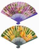 Sistema de la fan Ornamento de la flor de la fan hermoso, romántico Fotografía de archivo libre de regalías