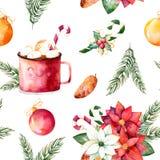 Sistema de la Feliz Navidad y de la Feliz Año Nuevo ilustración del vector