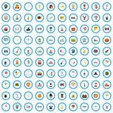 sistema de 100 de la festividad iconos del intercambio de ideas, estilo plano libre illustration