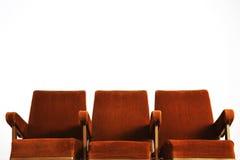 Sistema de la fila del asiento del cine Fotos de archivo