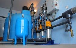 Sistema de la filtración del agua Fotografía de archivo libre de regalías
