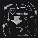 Sistema de la flecha de la tiza