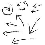Sistema de la flecha del Grunge Foto de archivo libre de regalías