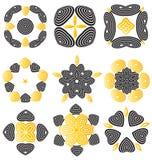 Sistema de la flor del extracto de Duocolor Imagen de archivo libre de regalías