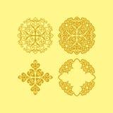 Sistema de la flor del vector Imagen de archivo