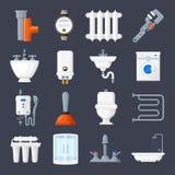 Sistema de la fontanería y de calefacción Foto de archivo libre de regalías