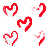 Sistema de la forma del corazón Foto de archivo