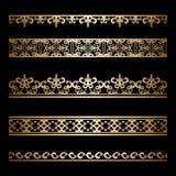 Sistema de la frontera del oro Imágenes de archivo libres de regalías