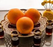 Sistema de la fruta de la naranja Fotos de archivo libres de regalías