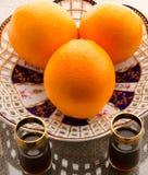 Sistema de la fruta de la naranja Imagen de archivo libre de regalías