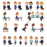 Sistema de la gente de la oficina de negocios Fotos de archivo libres de regalías