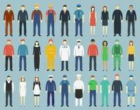 Sistema de la gente de la profesión Iconos de Avatar de la gente Vector Foto de archivo