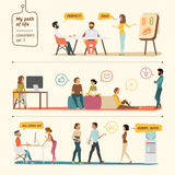Sistema de la gente de los compañeros de trabajo Imagen de archivo libre de regalías