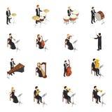 Sistema de la gente de la orquesta stock de ilustración