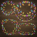 Sistema de la guirnalda de la Navidad que brilla intensamente EPS 10 Imagenes de archivo