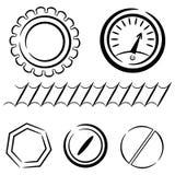 Sistema de la historieta de elementos industriales. eps10 Foto de archivo libre de regalías