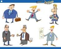 Sistema de la historieta de hombres de negocios Imagen de archivo