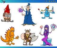 Sistema de la historieta de los caracteres de la fantasía Fotos de archivo