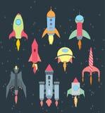 Sistema de la historieta de Rocket Imagen de archivo libre de regalías