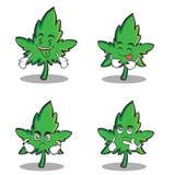 Sistema de la historieta del carácter de la marijuana de la colección libre illustration