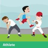 Sistema de la historieta del vector del deporte atlético Fotos de archivo libres de regalías