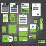 Sistema de la identidad corporativa para el diseño de marcado en caliente Foto de archivo libre de regalías