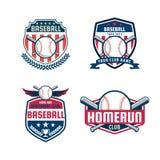 Sistema de la insignia del béisbol Imagen de archivo