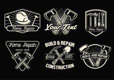 Sistema de la insignia de las herramientas del trabajo libre illustration