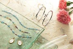 Sistema de la joyería Fotos de archivo libres de regalías