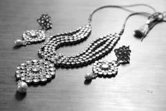 Sistema de la joyería de Kundan Imagen de archivo libre de regalías