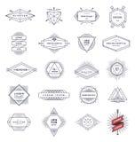 Sistema de la línea emblemas y muestras del inconformista Fotografía de archivo libre de regalías