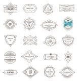 Sistema de la línea emblemas y muestras del inconformista Imagenes de archivo