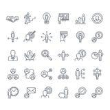 Sistema de la línea fina iconos de la gente libre illustration