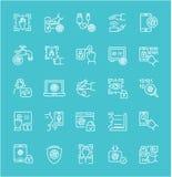 Sistema de la línea iconos de biométrica libre illustration