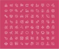 Sistema de la línea iconos de espacio Imagen de archivo
